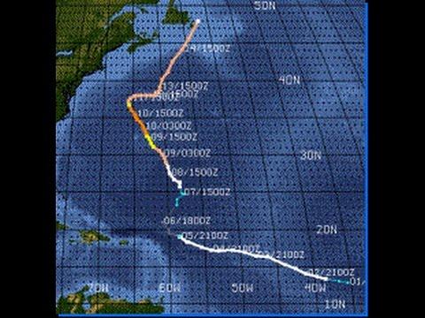 Hurricane Erin - Sept 1 - Sept 13, 2001 - Animation of the Path