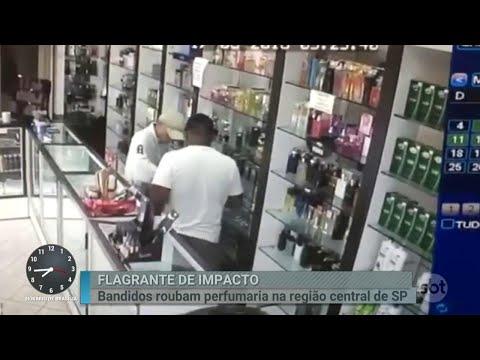 Quadrilha acusada de assaltar perfumarias em São Paulo é presa   Primeiro Impacto (25/04/18)