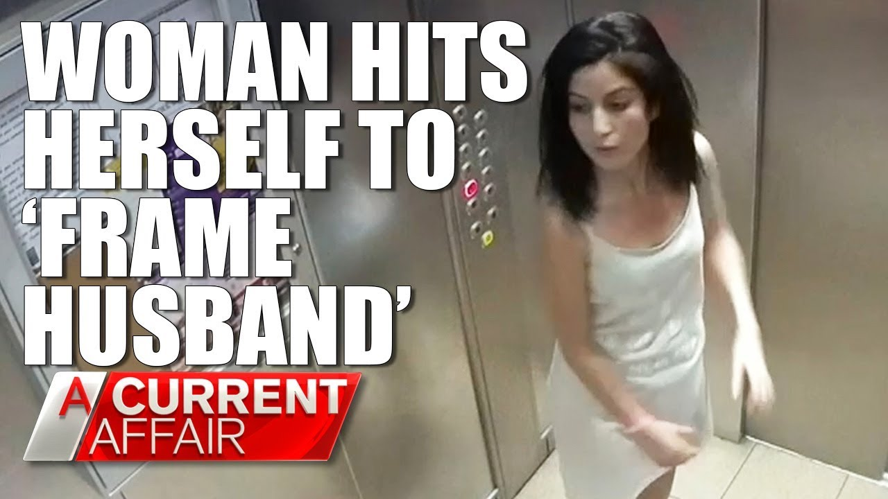 Dec. 4/18-Woman Hits Herself To Frame Husband Caught On Tape