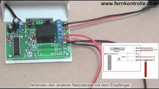 Auslösende Funkfernsteuerung 2000m für Elektrogeräte Funkschalter mit Relais Licht Motor Gragentor