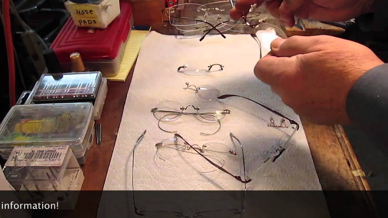 db4c3062d8 Common Problems With Rimless Eyeglasses - YouTube