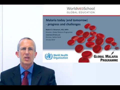 Malaria today (and tomorrow) by R Newman, World Health Organization
