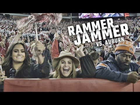 Watch BryantDenny explode Rammer Jammer after the 2016 Iron Bowl