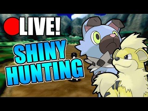Pokemon Sun and Moon - Shiny Doge Hunting! (Live)