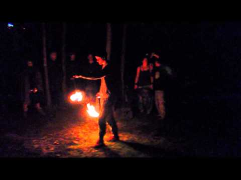 Firedancer - Underground forrest party Stockholm
