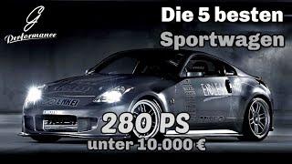 Die 5 besten Sportwagen unter 10.000 € | G Performance