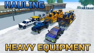 Farming Simulator 2015- Hauling American Construction Equipment In The Snow