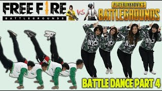 BATTLE DANCE FREE FIRE VS PUBG PART 4 IKAN ASIN TAKUPAZ DANCE CREW