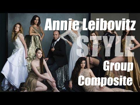 Annie Leibovitz & Vanity Fair Style - Group Lighting + Photoshop Composite Tutorial