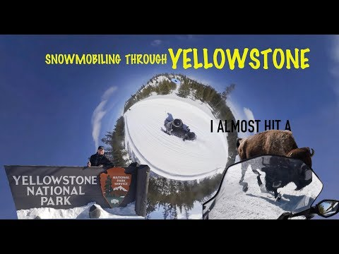 Snowmobiling in Yellowstone - I almost hit a BISON // Shred The West Ep.14