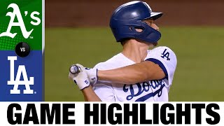 Corey Seager homers in Dodgers' 5-1 win over A's | A's-Dodgers Game Highlights 9/24/20