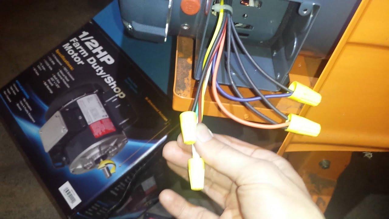 Marathon 12 hp low voltage motor wiring 9 wires  YouTube