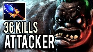 Insane Pudge 36 Kills Epic Comeback with Megacreeps by ATTACKER is NOT DENDI 7.03 Dota 2