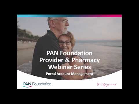 PAN Foundation Webinar Series: Portal Management
