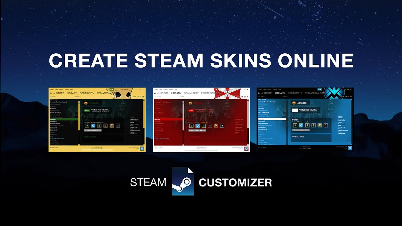Steam Customizer - Home