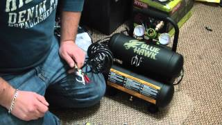 blue hawk 2 gallon twin stack electric air compressor 0 3 hp review