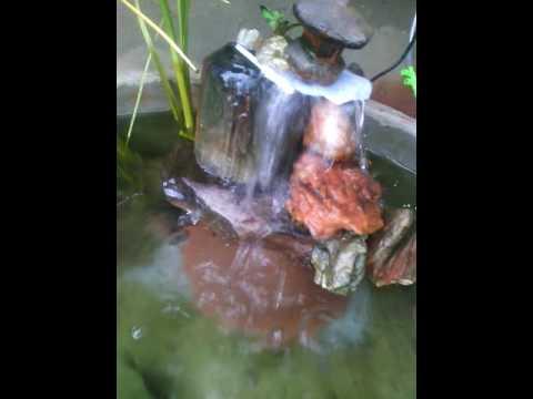 ้น้ำตกบ่อปลาคราฟ(ทำเอง)ขนาดเล็ก