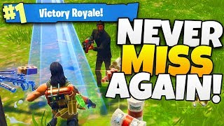 How To NEVER MISS A SHOT Again in Fortnite! - Tips and Tricks