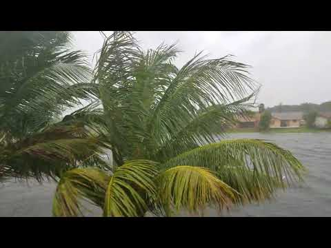 (HD) Hurricane Irma Miami Hits Florida Newest Update