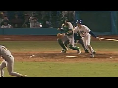 WS1988 Gm2: Hershiser helps himself with RBI double