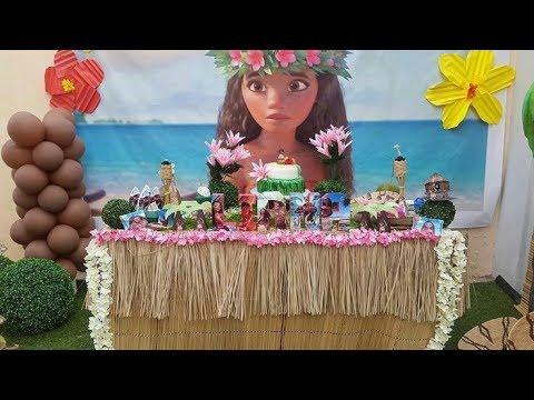 Fiesta de moana party 2017 mesa de dulces decoracion for Decoracion de mesas dulces infantiles
