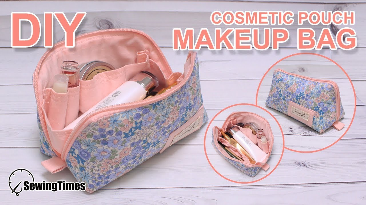Diy Makeup Pouch Bag 꽃무늬 메이크업 파우치 Cosmetics Bag Tutorial Sewing Pattern Sewingtimes
