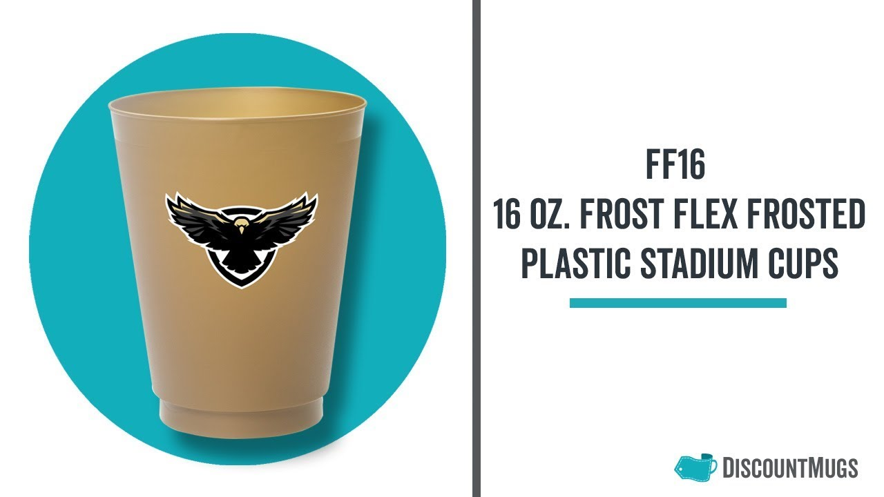 Promotional 16 oz  Frost Flex Frosted Plastic Stadium Cups