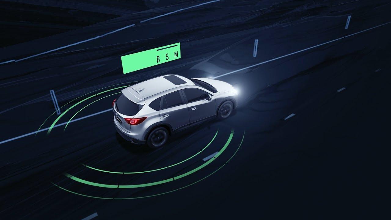Mazda I Activsense Blind Spot Monitoring Bsm Youtube