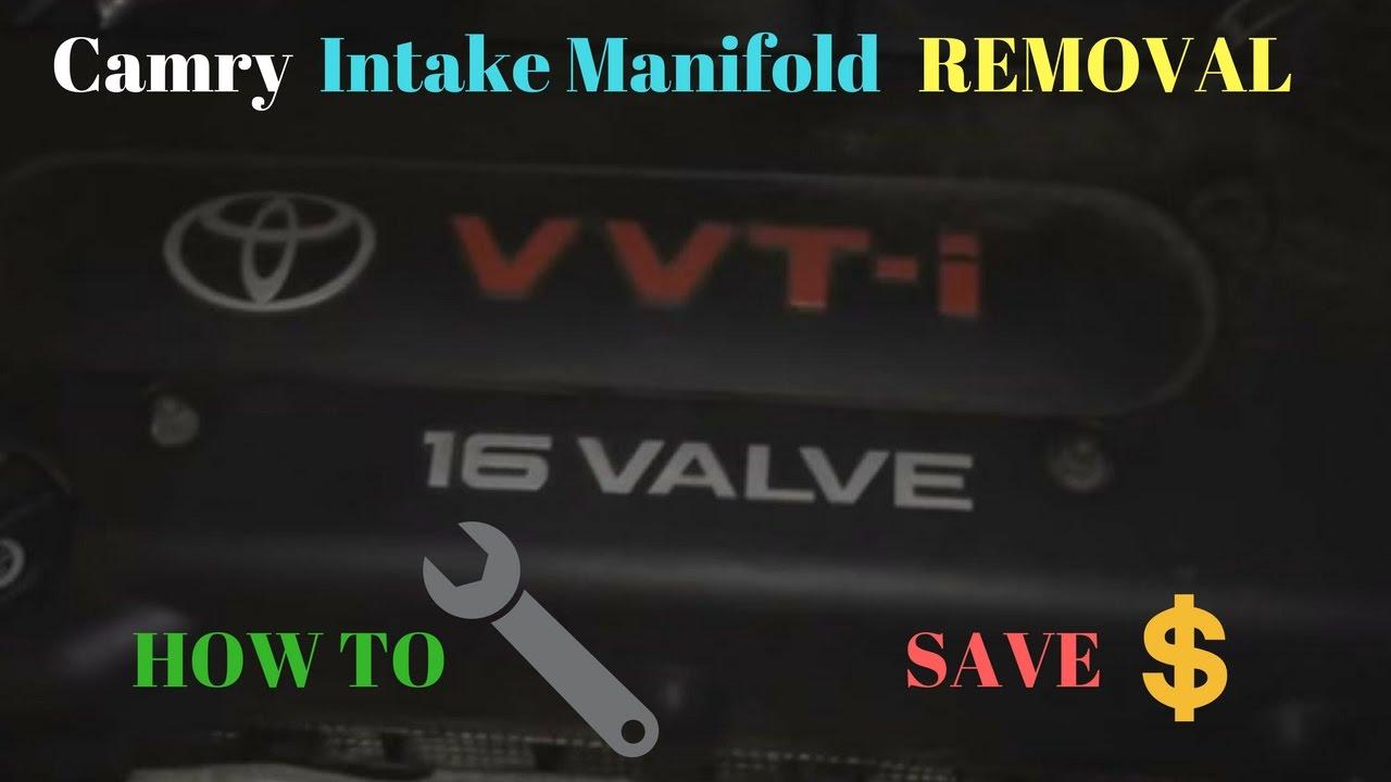 medium resolution of 01 05 2 4l camry intake manifold removal