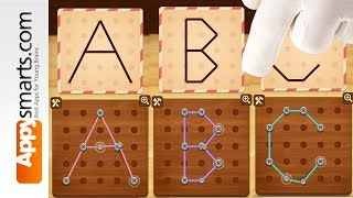 Find all letters and numbers in the Line Puzzle game (kids and parents)