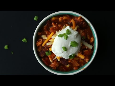 HEALTHY and EASY 30 Minute Turkey Chili Recipe   How To Make Chili