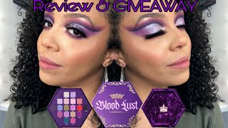 Blood Lust Palette Review & GIVEAWAY | Swatches | Eye Demo | Jeffree Star Cosmetics