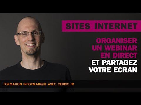 Organiser un webinar en direct (Conférence) et partagez votre écran.
