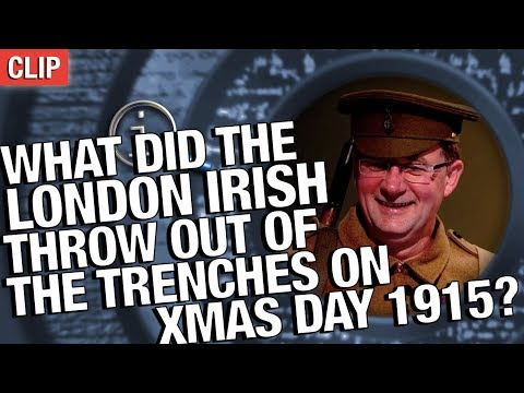 Thumbnail: QI | What Did The London Irish Throw Out Of The Trenches On Christmas Day 1915?
