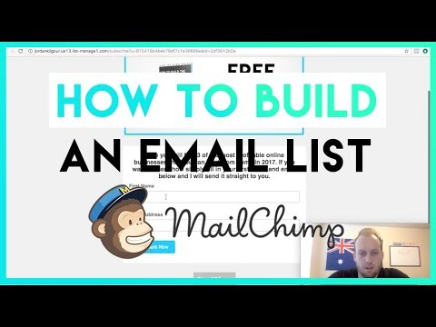 How to Create Landing Pages to Build an Email List W/ Free Download Offer [MailChimp Tutorial]