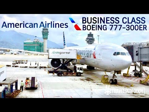 American Airlines Business Class Boeing 777-300ER Hong Kong to Los Angeles