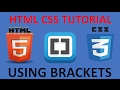 HTML and CSS Tutorial for beginners 46- Video Element in HTML with Brackets Live Preview