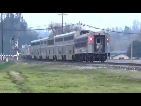 Amtrak #11 and #14 of Mon 12 Jan 2015 [HD]