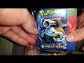 Apertura De Cartas Pokemon Evoluciones 2 Paquetes Con 2 Sobres