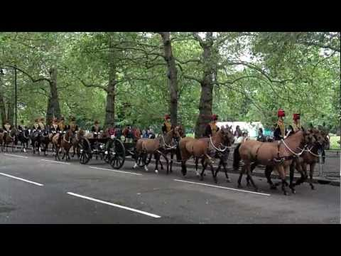 King's Troop Royal Horse Artillery Marching In London