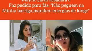 MAYRA CARDI PROIBE FÃS DE ESCOSTAR NA SUA BARRIGA