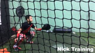 10 year old catcher training Nick
