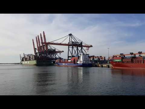 Обзор контейнерного терминала Euromax порт Роттердам