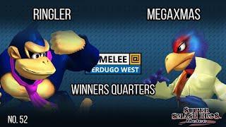 Melee @ Verdugo #52- Ringler (Donkey Kong) VS MegaXmas (Falco) - SSBM Winners Quarters