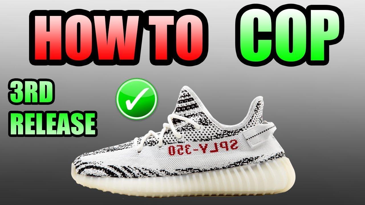 2c43ea467fbfc4 How To Get The Yeezy 350 V2 ZEBRA