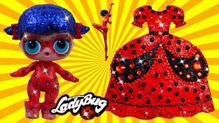 Куклы ЛОЛ ЛЕДИ БАГ І Чудесное платье для Леди Баг І своими руками из пластилина Плей До