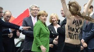 FEMEN vs. Putin & Merkel