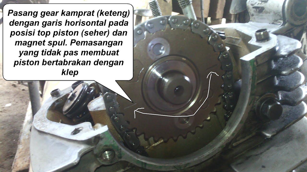 Sekir Klep Bongkar Mesin Motor Honda Gl Series Tiger Megapro Tensioner Racing Mega Pro