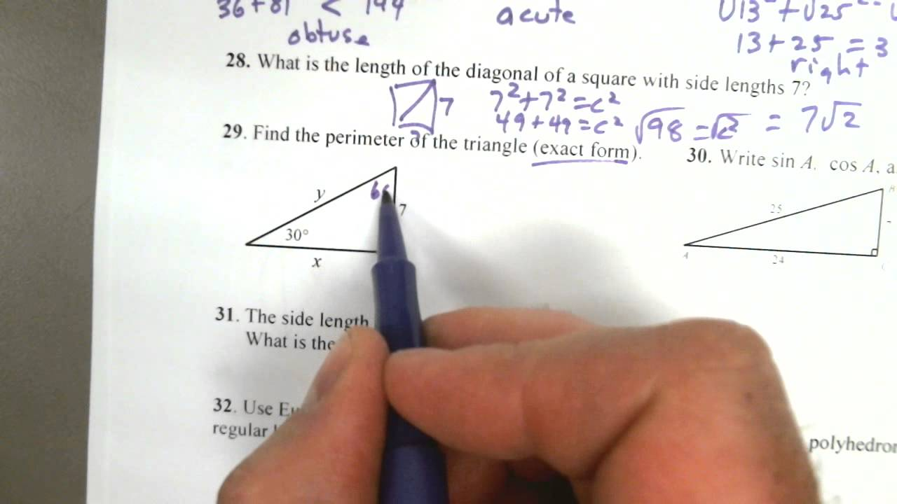 Geometry Semester 2 Review for Final Exam - YouTube
