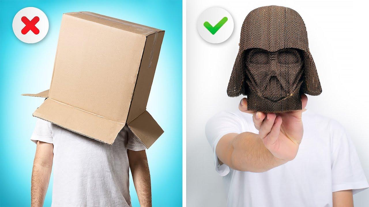 Busto Realista do Darth Vader com Papelão    Modelo 3D Perfeito